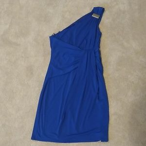Cobalt blue cocktail dress